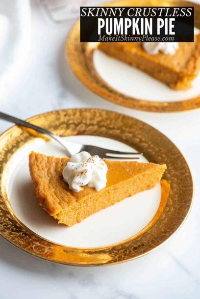skinny crustless pumpkin pie title